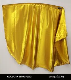 SHINY METALLIC GOLD 24K WING FLAG